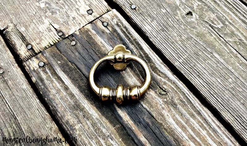 Vintage Keeler Brass Co Mid Century Chunky Polished Brass Ring Pull    Product Images Of