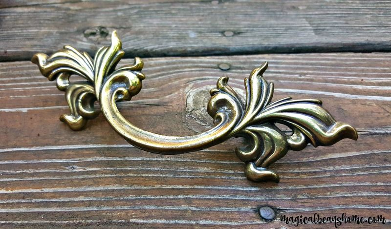 Vintage French Provincial Drawer Pulls In Dark Brass By Keeler Brass Co    Magical Beans Home