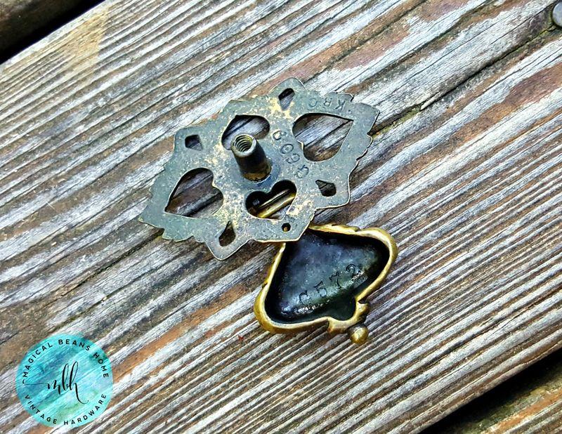Vintage Keeler Brass Co Ornate Bell Tear Drop Pulls in Solid Brass ...