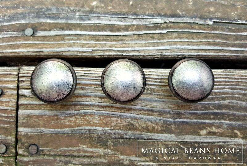 Weathered Nickel Rustic Farmhouse Drawer Knobs In