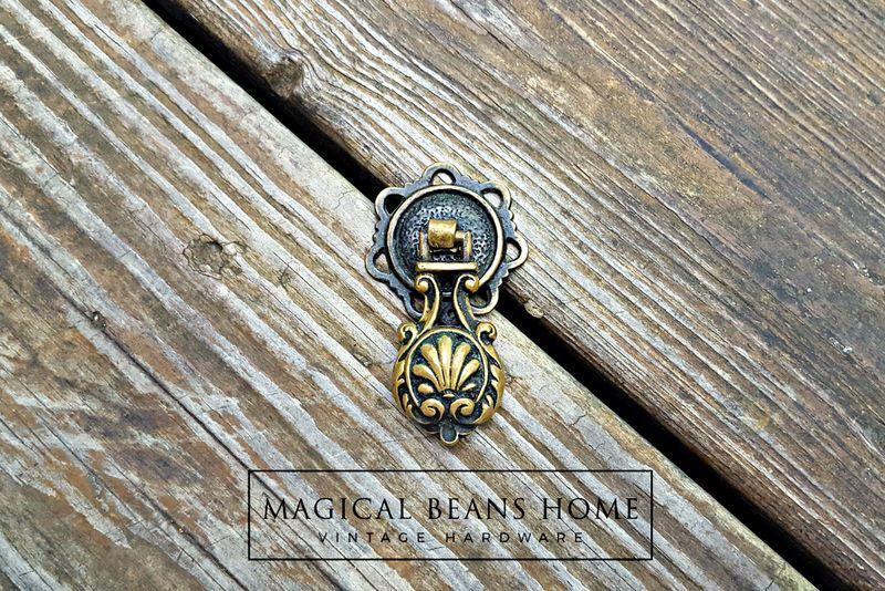 Vintage Keeler Brass Co Antiqued Brass Teardrop Pull - Magical ...