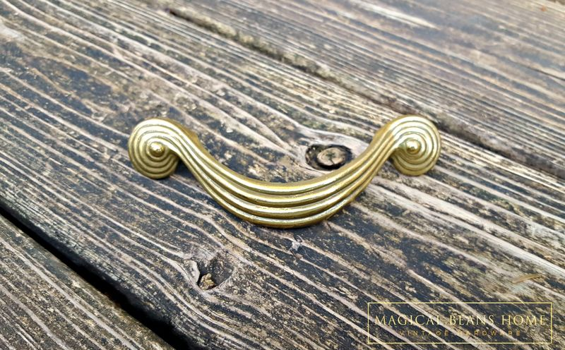Hardware Architectural & Garden Brass Antique Drawer Pull Cabinet Knob Art Deco Hardware Mid Century Modern