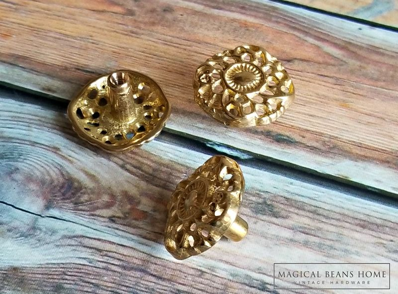 Solid Brass Rococo Furniture Drawer Handle Pull