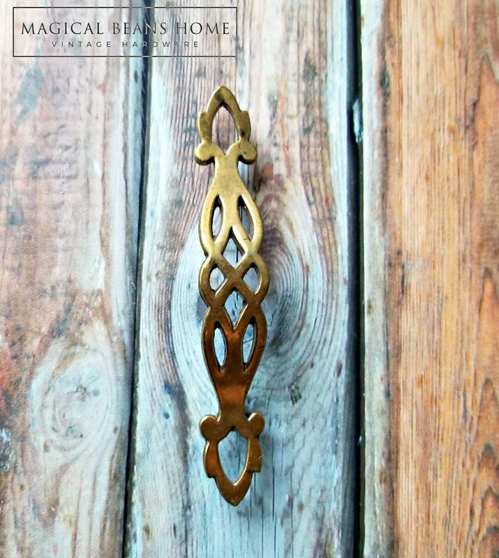 Vintage Filigree Brass Drawer Pull by Keeler Brass Co - Magical ...