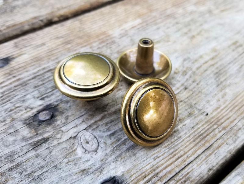Knob Multi Ring Knob Spired Gold Drawer Knob Gold Cabinet Knob Decorative Drawer Knob Vintage Drawer Knob Brass Drawer Knob Keeler Brass Co