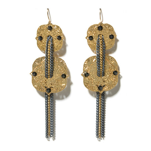 Inbar,Shahak,//,Iron,Diamond,Grade,Earrings,Inbar Shahak, statement jewellery, statement earrings, gold Earrings