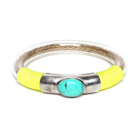 A,Peace,Treaty,//,360,Yellow,Bangle,A Peace Treaty, 360 Yellow Bangle, statement jewellery, statement bangle