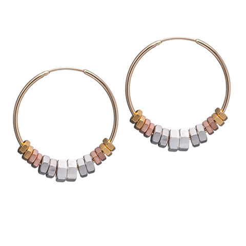 Alice,Menter,Circles,Earrings,//,Mixed,Hoops,Alice Menter, statement jewellery, statement earrings, silver hoops, gold hoops