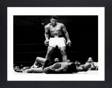 Mohammed,Ali,-,02,Picture, Photo, Photograph, Print, Framed Photograph, Mohammed Ali, Pop Art, Icon, Black&White, B&W, Black & White, Cassius Clay, World Heavyweight Champion, Sonny Liston, the greatest
