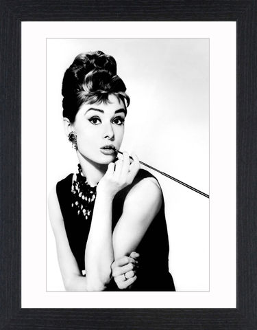 Audrey,Hepburn,-,01,Picture, Photo, Photograph, Print, Framed Photograph, Black&White, B&W, Audrey Hepburn, Actress, fashion icon, elfin, International Best Dressed List Hall of Fame, American Film Institute