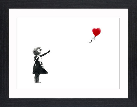 Banksy,-,Balloon,Girl,Picture, Photo, Photograph, Print, Framed Photograph, Banksy,  Icon, Black&White, B&W, Black & White, Iconic, Street Art, Graffiti, stenciling, Stencil