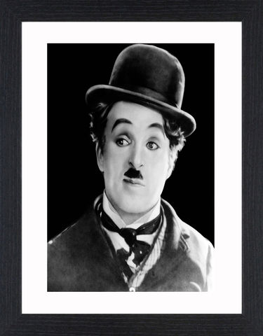 Charlie,Chaplin,-,02,Picture, Photo, Photograph, Print, Framed Photograph, Pop Art, Icon, Black&White, B&W, Black & White, comic actor, film director, composer, silent film era, Silent Film, mime, slapstick, visual comedy routines, American Film Institute, screen legend