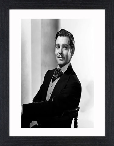 Clark,Gable,-,01,Picture, Photo, Photograph, Print, Framed Photograph,  Icon, Black&White, B&W, Black & White, Clark Gable, William Clark Gable, Rhett Butler, Gone with the Wind,  Vivien Leigh, Academy Award, Best Actor, It Happened One Night, Mutiny on the Bounty, Run Si