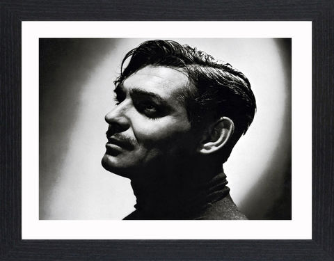 Clark,Gable,-,02,Picture, Photo, Photograph, Print, Framed Photograph,  Icon, Black&White, B&W, Black & White, Clark Gable, William Clark Gable, Rhett Butler, Gone with the Wind,  Vivien Leigh, Academy Award, Best Actor, It Happened One Night, Mutiny on the Bounty, Run Si