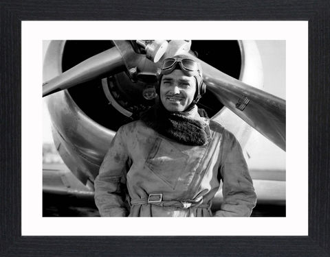 Clark,Gable,-,03,Picture, Photo, Photograph, Print, Framed Photograph,  Icon, Black&White, B&W, Black & White, Clark Gable, William Clark Gable, Rhett Butler, Gone with the Wind,  Vivien Leigh, Academy Award, Best Actor, It Happened One Night, Mutiny on the Bounty, Run Si