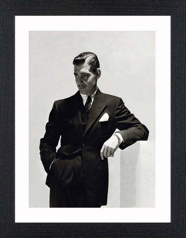 Clark,Gable,-,04,Picture, Photo, Photograph, Print, Framed Photograph,  Icon, Black&White, B&W, Black & White, Clark Gable, William Clark Gable, Rhett Butler, Gone with the Wind,  Vivien Leigh, Academy Award, Best Actor, It Happened One Night, Mutiny on the Bounty, Run Si