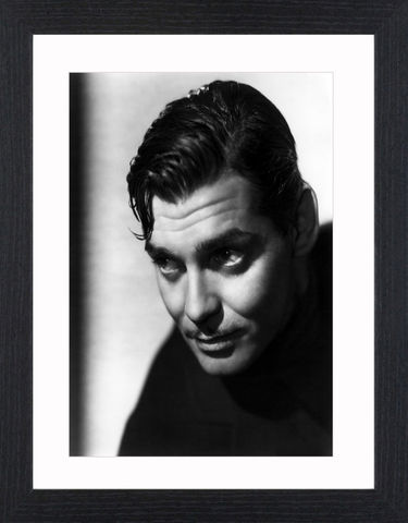 Clark,Gable,-,05,Picture, Photo, Photograph, Print, Framed Photograph,  Icon, Black&White, B&W, Black & White, Clark Gable, William Clark Gable, Rhett Butler, Gone with the Wind,  Vivien Leigh, Academy Award, Best Actor, It Happened One Night, Mutiny on the Bounty, Run Si