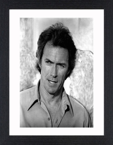 Clint,Eastwood,-,01,Picture, Photo, Photograph, Print, Framed Photograph,  Icon, Black&White, B&W, Black & White, Clint Eastwood, Clinton Eastwood, Jr, film actor, director, producer, composer and politician, Rawhide, the Man with No Name, Sergio Leone's,  Dollars trilogy, s
