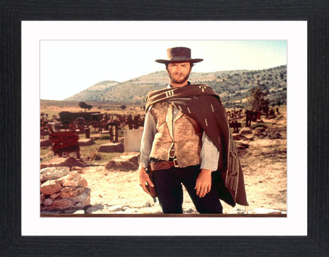 Clint,Eastwood,-,03,Picture, Photo, Photograph, Print, Framed Photograph,  Icon, Black&White, B&W, Black & White, Clint Eastwood, Clinton Eastwood, Jr, film actor, director, producer, composer and politician, Rawhide, the Man with No Name, Sergio Leone's,  Dollars trilogy