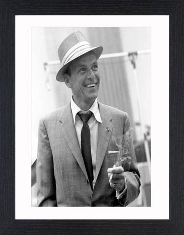 Frank,Sinatra,-,01,Picture, Photo, Photograph, Print, Framed Photograph, Icon, B&W, Frank Sinatra, actor, singer, film, rat pack, idol, bobby soxers