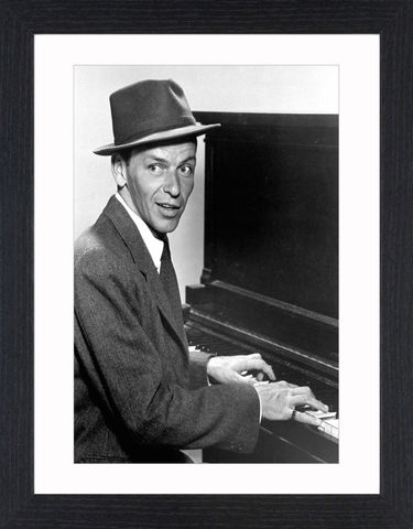 Frank,Sinatra,-,04,Picture, Photo, Photograph, Print, Framed Photograph, Icon, B&W, Frank Sinatra, actor, singer, film, rat pack, idol, bobby soxers