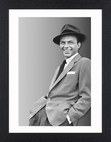 Frank,Sinatra,-,05,Picture, Photo, Photograph, Print, Framed Photograph, Icon, B&W, Frank Sinatra, actor, singer, film, rat pack, idol, bobby soxers