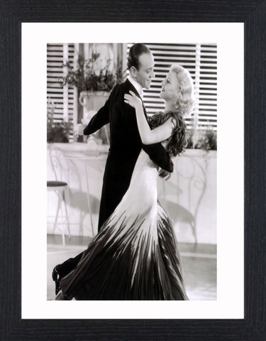 Fred,Astair,&,Ginger,Rogers,-,01,Picture, Photo, Photograph, Print, Framed Photograph, Icon, B&W, Fred Astaire, Ginger Rogers, film, Broadway, stage dancer, choreographer, singer, actor, American,  actress, hollywood, screen legend, kitty foyle