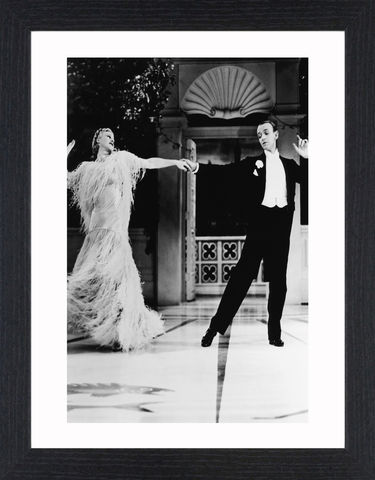 Fred,Astair,&,Ginger,Rogers,-,02,Picture, Photo, Photograph, Print, Framed Photograph, Icon, B&W, Fred Astaire, Ginger Rogers, film, Broadway, stage dancer, choreographer, singer, actor, American,  actress, hollywood, screen legend, kitty foyle