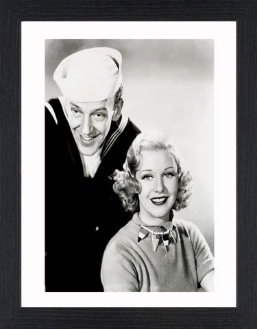 Fred,Astair,&,Ginger,Rogers,-,03,Picture, Photo, Photograph, Print, Framed Photograph, Icon, B&W, Fred Astaire, Ginger Rogers, film, Broadway, stage dancer, choreographer, singer, actor, American,  actress, hollywood, screen legend, kitty foyle