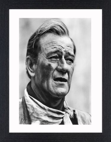 John,Wayne,-,01,Picture, Photo, Photograph, Print, Framed Photograph,  Icon, B&W, John Wayne, Marion Mitchell Morrison, American film actor, director, producer, Academy Award-winner, Western films, Stagecoach, The Quiet Man, The Searchers, True Grit, The Shootist, gunsli