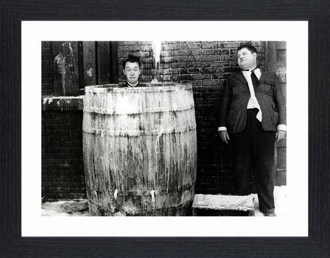 Laurel,&,Hardy_01,Picture, Photo, Photograph, Print, Framed Photograph,  Icon, B&W, Laurel and Hardy, Stan Laurel, Oliver Hardy, comedy double acts, comedy, double act, slapstick, Sons of the Desert, Aademy Award, The Music Box, Babes in Toyland, Way Out West