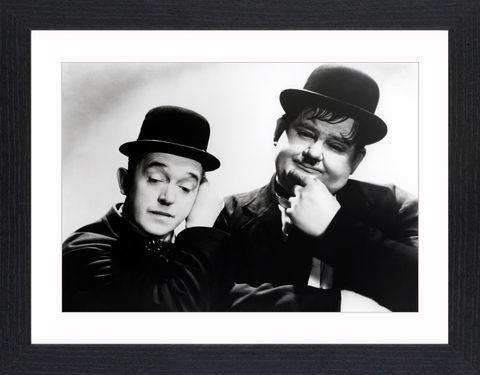 Laurel,&,Hardy,-,04,Picture, Photo, Photograph, Print, Framed Photograph,  Icon, B&W, Laurel and Hardy, Stan Laurel, Oliver Hardy, comedy double acts, comedy, double act, slapstick, Sons of the Desert, Aademy Award, The Music Box, Babes in Toyland, Way Out West