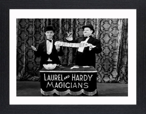 Laurel,&,Hardy,-,06,Picture, Photo, Photograph, Print, Framed Photograph,  Icon, B&W, Laurel and Hardy, Stan Laurel, Oliver Hardy, comedy double acts, comedy, double act, slapstick, Sons of the Desert, Aademy Award, The Music Box, Babes in Toyland, Way Out West