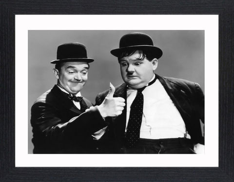 Laurel,&,Hardy,-,07,Picture, Photo, Photograph, Print, Framed Photograph,  Icon, B&W, Laurel and Hardy, Stan Laurel, Oliver Hardy, comedy double acts, comedy, double act, slapstick, Sons of the Desert, Aademy Award, The Music Box, Babes in Toyland, Way Out West