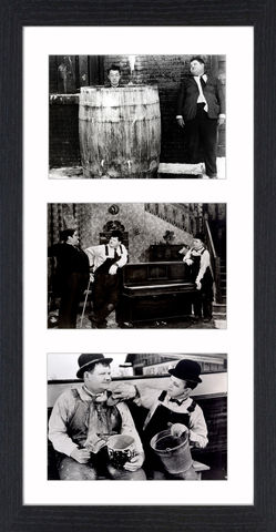 Laurel,&,Hardy,-,08,Picture, Photo, Photograph, Print, Framed Photograph,  Icon, B&W, Laurel and Hardy, Stan Laurel, Oliver Hardy, comedy double acts, comedy, double act, slapstick, Sons of the Desert, Aademy Award, The Music Box, Babes in Toyland, Way Out West