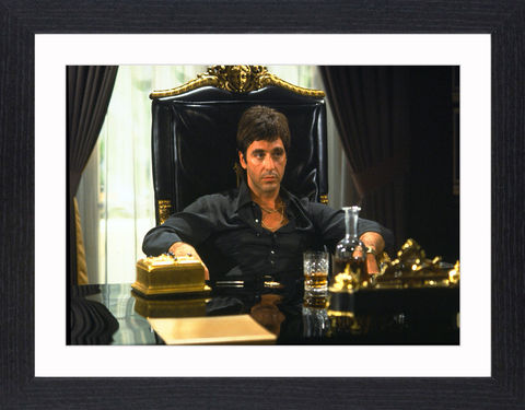 Al,Pacino,in,Scarface,-,01,Picture, Photo, Photograph, Print, Framed Photograph, Al Pacino, Scarface, film, Brian De Palma, Oliver Stone, Tony Montana. Cuban, refugee, Mariel Boatlift, drug cartel kingpin, cocaine, cult following, cultural icon,