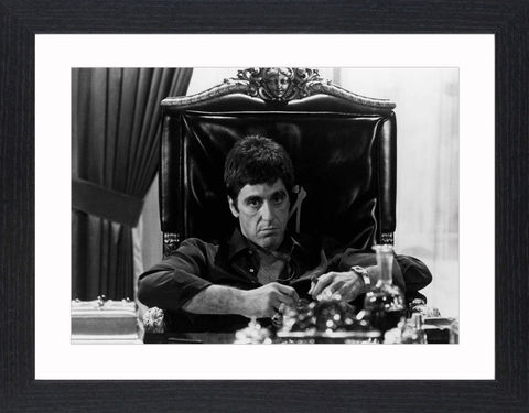 Al,Pacino,in,Scarface,-,02,Picture, Photo, Photograph, Print, Framed Photograph, Al Pacino, Scarface, film, Brian De Palma, Oliver Stone, Tony Montana. Cuban, refugee, Mariel Boatlift, drug cartel kingpin, cocaine, cult following, cultural icon