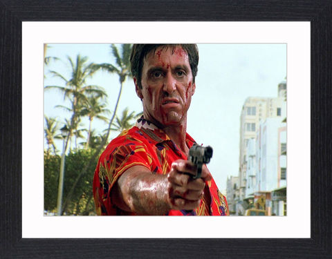 Al,Pacino,in,Scarface,-,03,Picture, Photo, Photograph, Print, Framed Photograph, Al Pacino, Scarface, film, Brian De Palma, Oliver Stone, Tony Montana. Cuban, refugee, Mariel Boatlift, drug cartel kingpin, cocaine, cult following, cultural icon