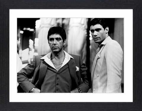 Al,Pacino,in,Scarface,-,05,Picture, Photo, Photograph, Print, Framed Photograph, Al Pacino, Scarface, film, Brian De Palma, Oliver Stone, Tony Montana. Cuban, refugee, Mariel Boatlift, drug cartel kingpin, cocaine, cult following, cultural icon