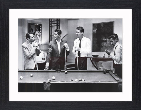The,Rat,Pack,-,01,Picture, Photo, Photograph, Print, Framed Photograph, The Rat Pack, Frank Sinatra, Dean Martin, Sammy Davis, Jr., Peter Lawford, Joey Bishop, Ocean's 11