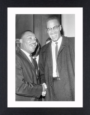 Malcolm,X,&,Martin,Luther,King,Jr,Picture, Photo, Photograph, Print, Framed Photograph, Malcolm X, Martin Luther King, Malcolm Little, El-Hajj Malik El-Shabazz, African-American, Muslim, minister, human rights activist