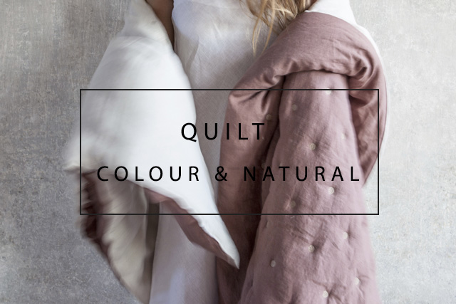 Luxury linen quilts
