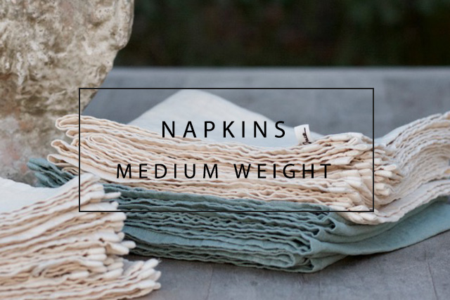 luxury linen napkins medium weight