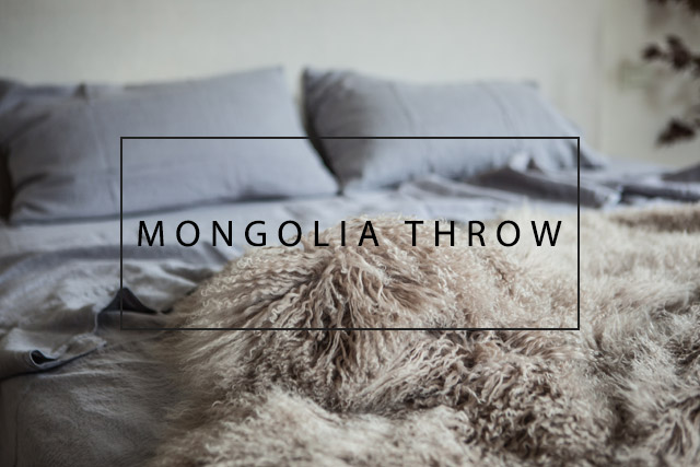 Luxury mongolia throw