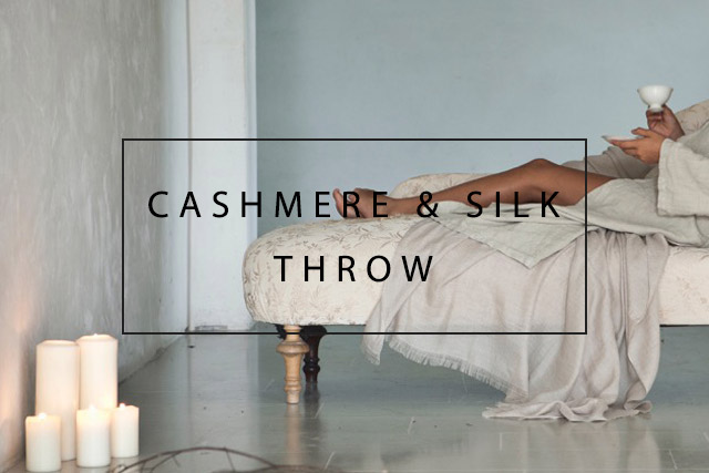 luxury cashmere and silk throw