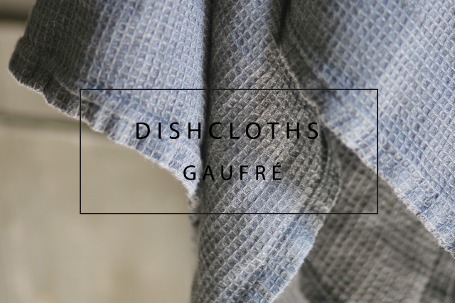 Luxury linen dishcloths gaufrè