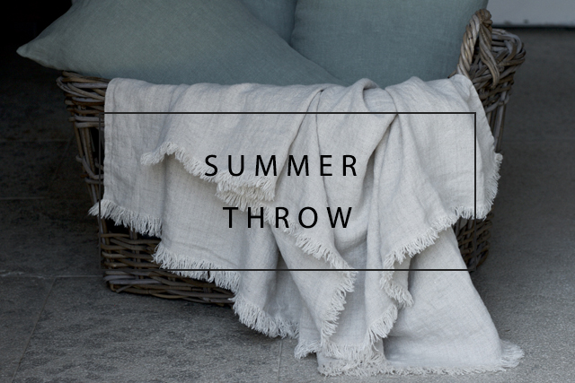 Luxury linen throws