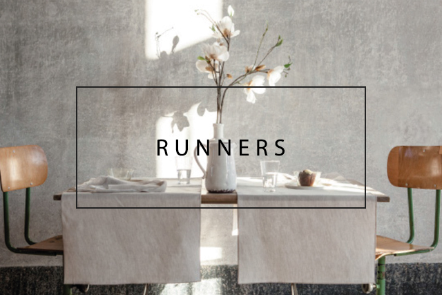 luxury double side linen runners