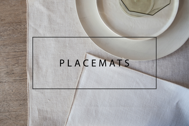 luxury linen placemats with roll hem