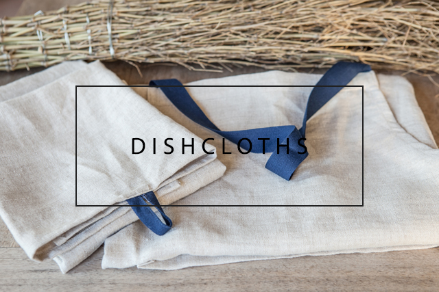 natural linen dishcloth with loop